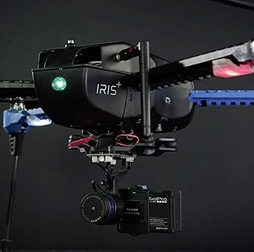 3DR IRIS+ for gopro - GoPro gimbal and camera attached