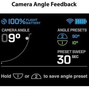 3DR Solo – controller – camera angle status