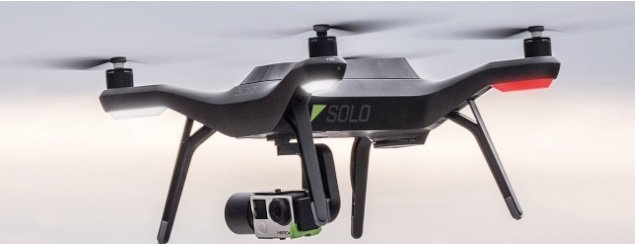 3DR Solo flying with Solo Gimbal