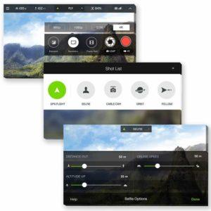 3DR solo app – screens