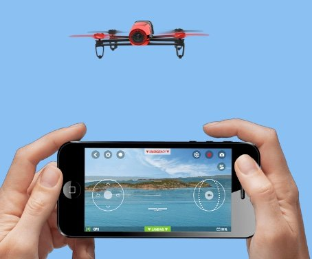 AR Parrot Bebop RED - app controller Android