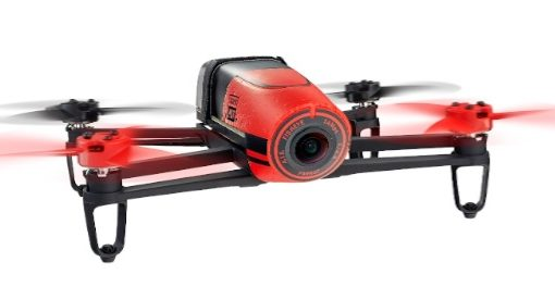 AR Parrot Bebop RED - front in flight