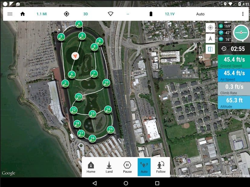 3DR Tower Droid Planner 3 flight planning app