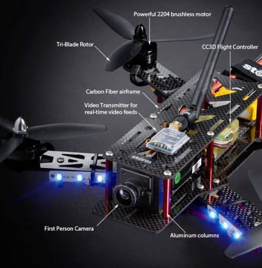 Helipal Storm Type A Racing Drone - details