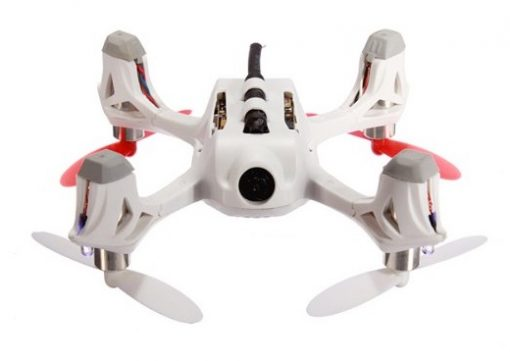 Hubsan H107D X4 Quadcopter WHITE - underside view