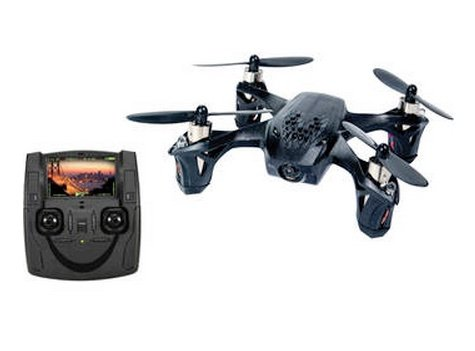 Hubsan H107D X4 Quadcopter - front view with controller