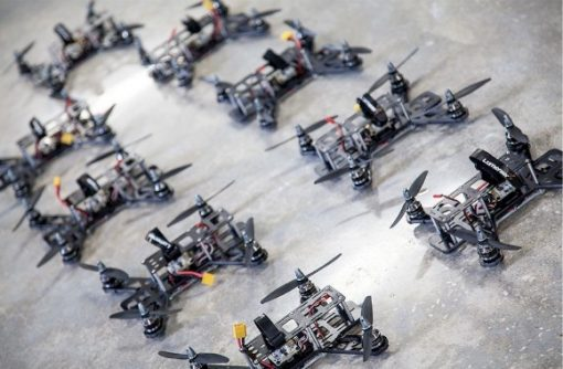 Lumenier QAV250 G10 RTF Racing Drone - bunch of racers lined up