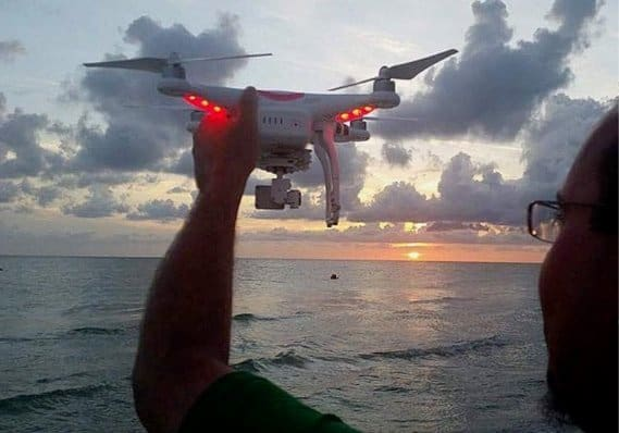 aerial photography drone sunset