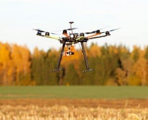 ag drone over field