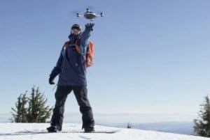 outdoor sports drone skiiing