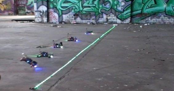 underground drone racing