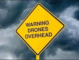 warning drones overhead safety