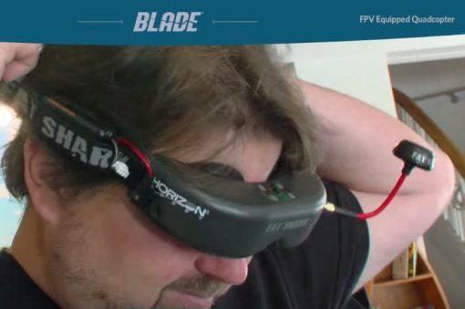 Blade Nano mini quadcopter - hobbytron FatShark goggles