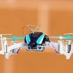 Blade Nano mini quadcopter - hobbytron in flight side view