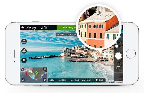 DJI GO App live feed