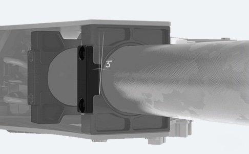 DJI M100 - adjustable arm angle for more torque