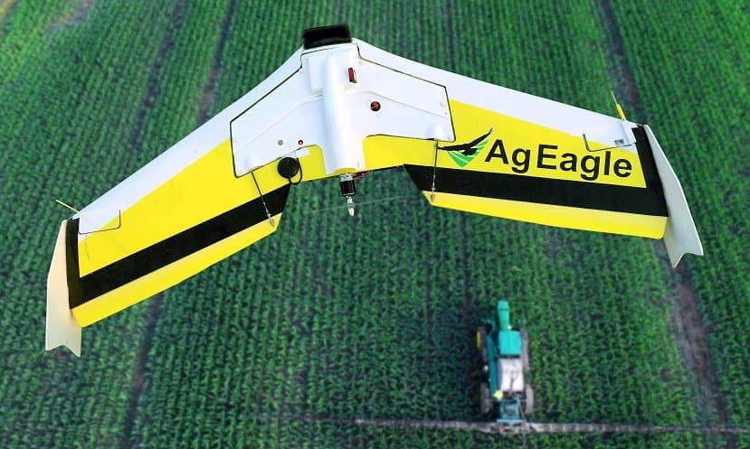 AgEagle RAPID - flying over field