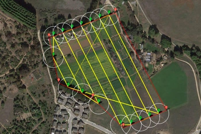 pre-flight plan for quadcopter on DroneFly