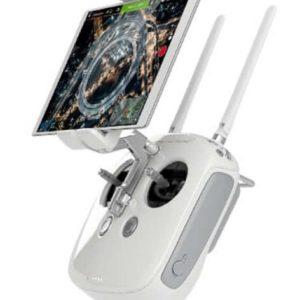 DJI Phantom 4 – flight controller with tablet mounted