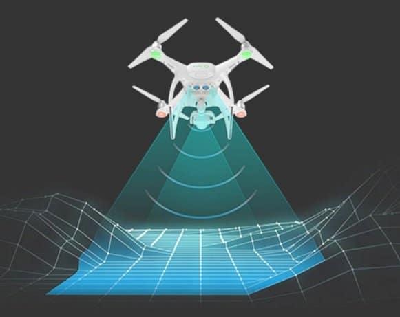 DJI Phantom 4 - optical sensors