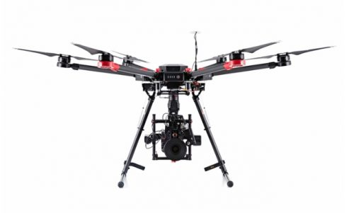DJI M600 - front view landing gear down