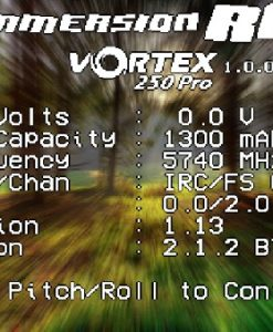 Vortex 250 PRO - on screen display