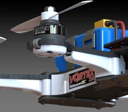 Vortex 250 PRO - power unit closeup