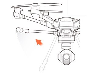 Yuneec Typhoon H - retractable landing gear
