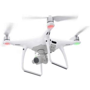 DJI Phantom 4 PRO drone camera- flying with directional beacons lit
