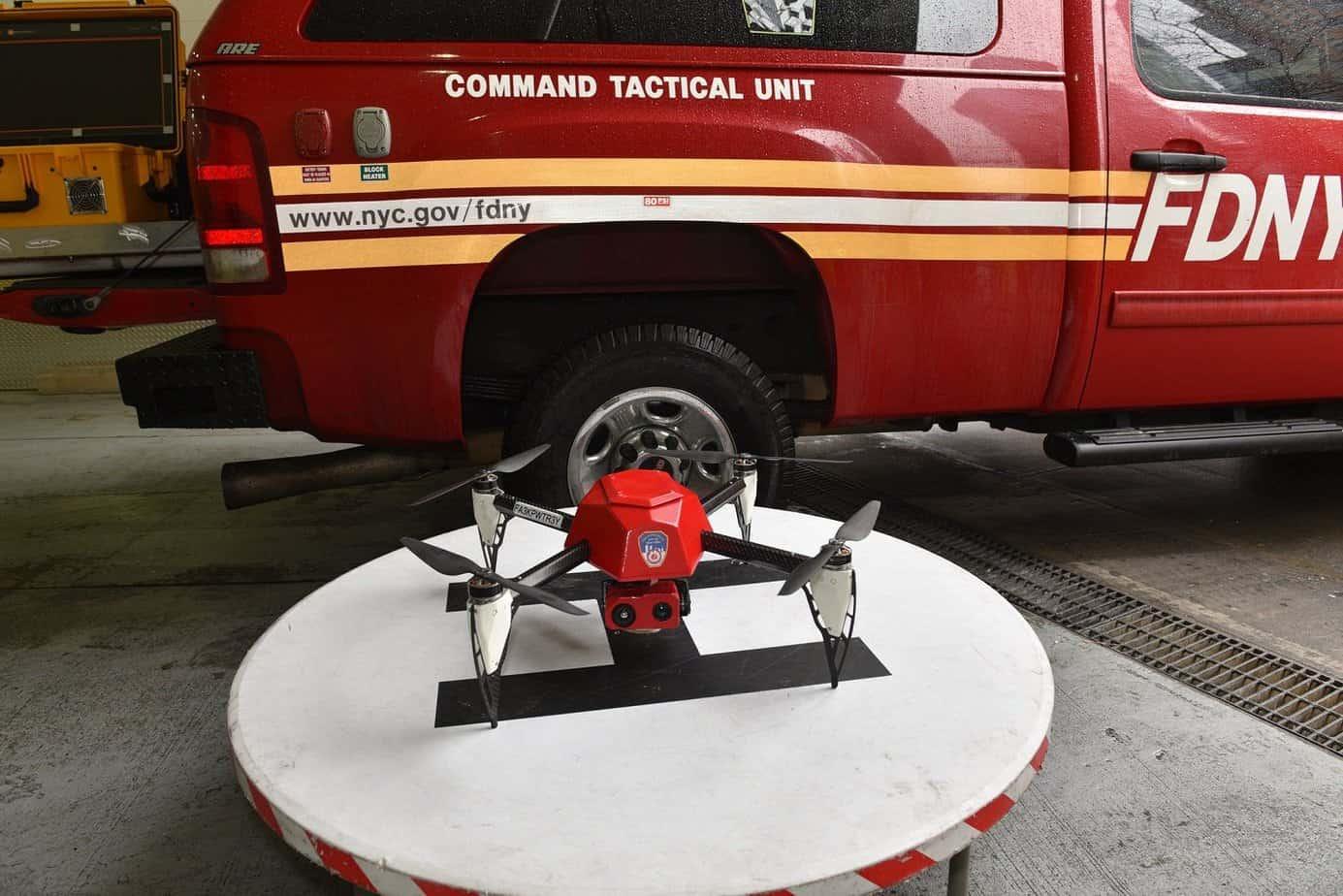 Fire fighting top drones