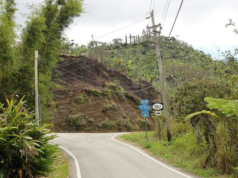 Puerto Rico hilly areas