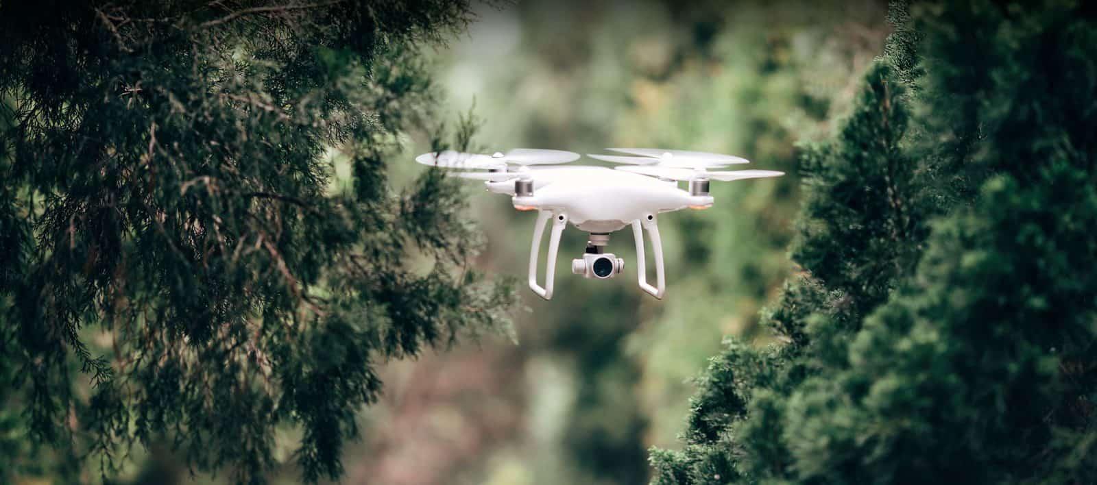 A video camera drone