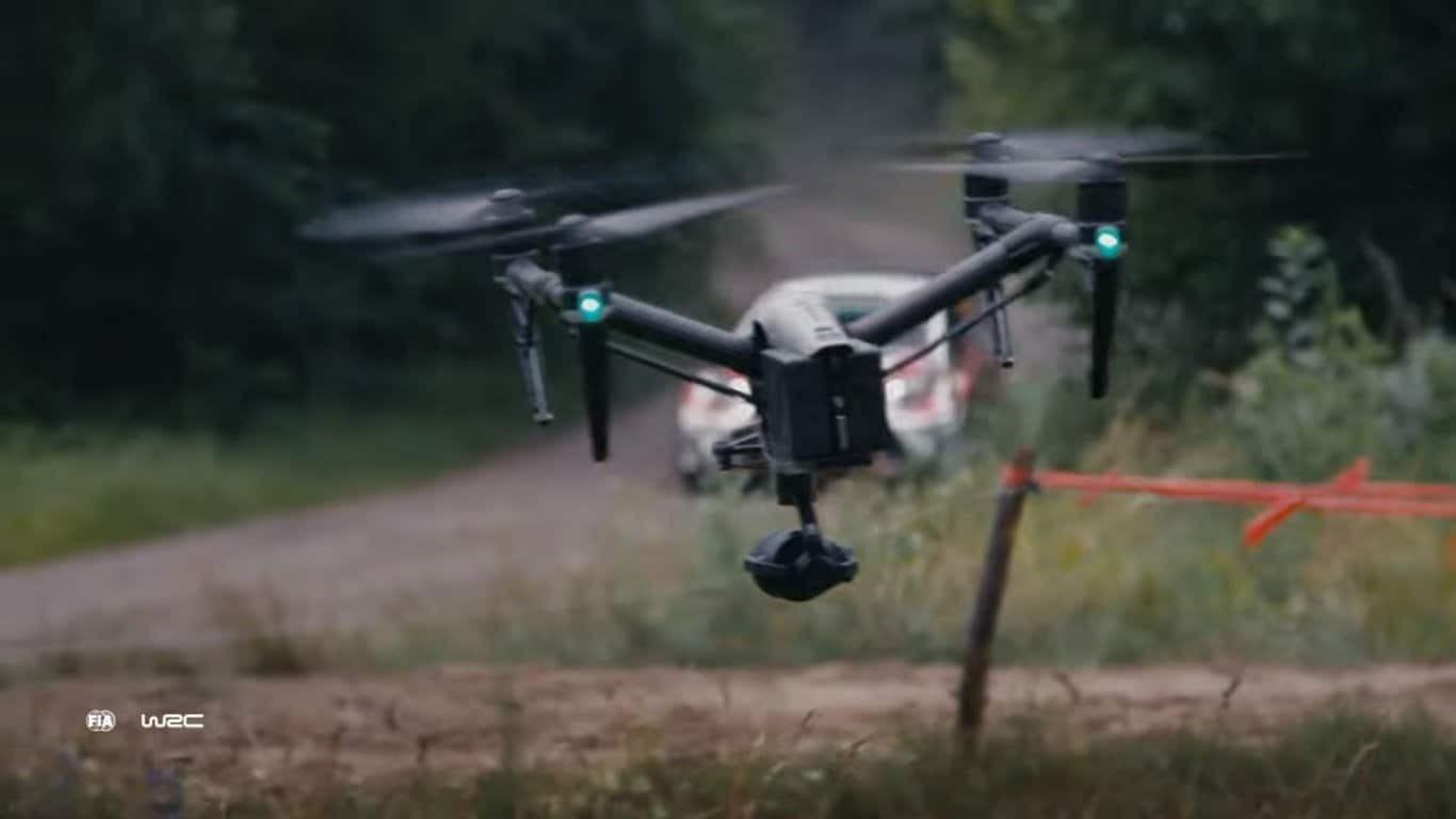 UAV Practive and Training - Filming a rally
