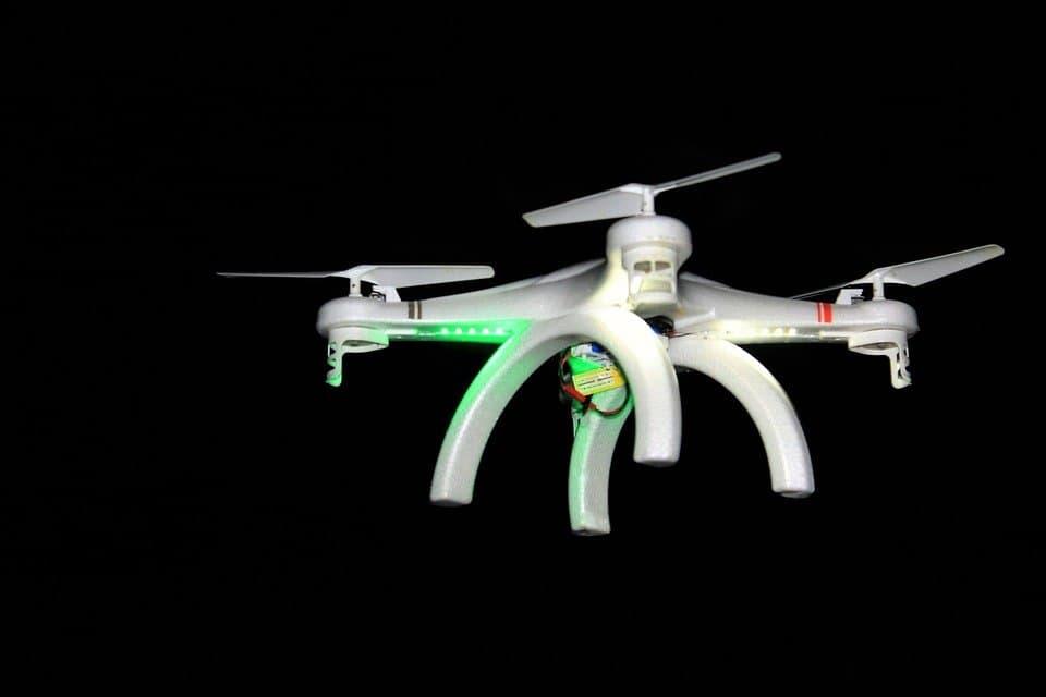 Night Drone Aircraft Flight Rotor Fly
