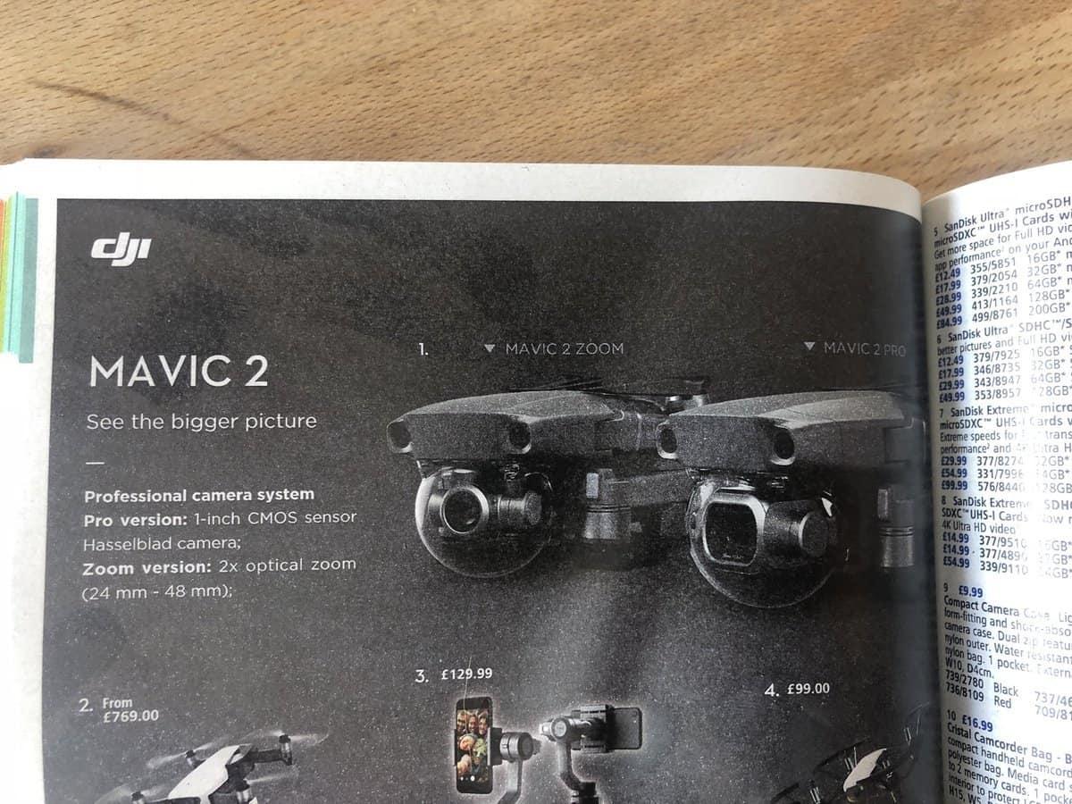 New camera drones in the DJI Mavic series