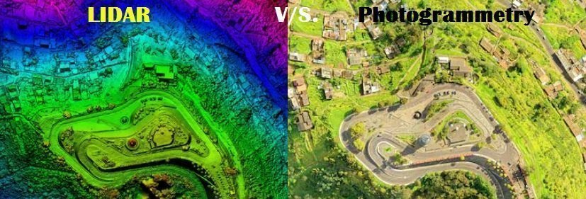 LIDAR and photogrammetry.